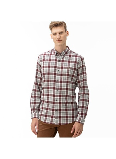 Lacoste Erkek Slim Fit Gömlek CH2021.21R Bordo